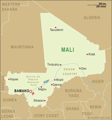 Location KoFalen Cultural Center - Where is mali located